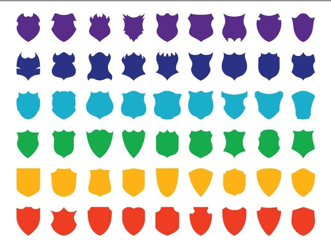 Colorful Shields art vector
