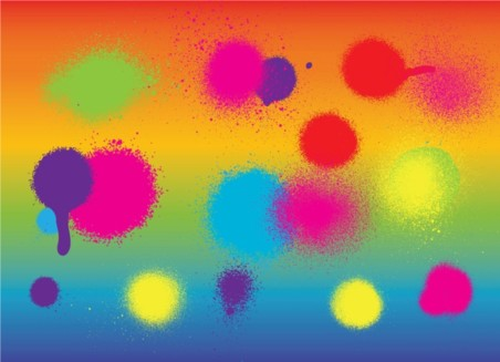 Colorful Spray Paint vector
