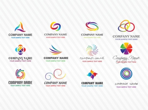 Colorful Stock Logos vector material