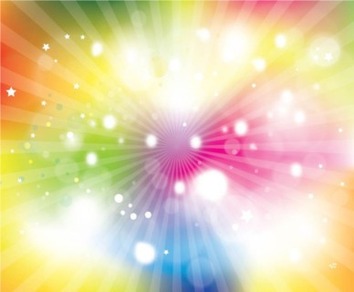 Colorful Sunburst Explosion vector