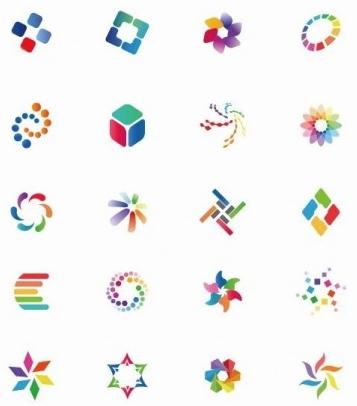 Colorful Icon Set vectors
