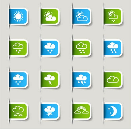 Colorful Weather Icons vectors
