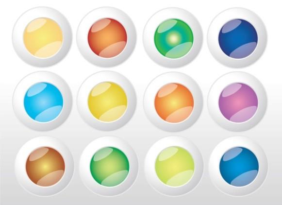 Colorful Web Buttons Vectors