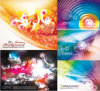 Colorful background set vector