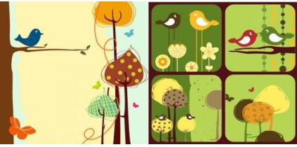 Colorful bird theme vector design