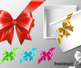 Colorful bow with gift boxs illustration vector