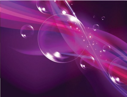 Colorful bubble background 01 vector