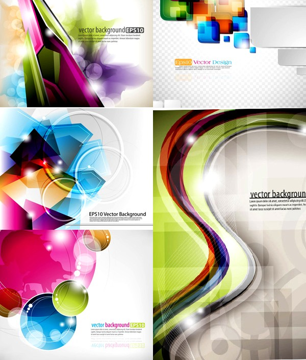 Colorful graphics space background vector graphics