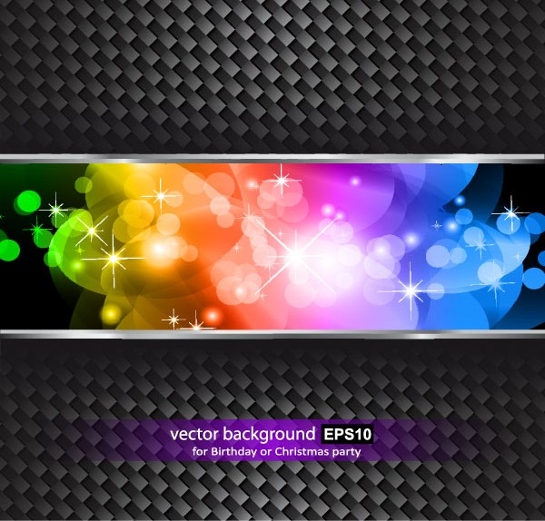 Colorful grid background vectors material