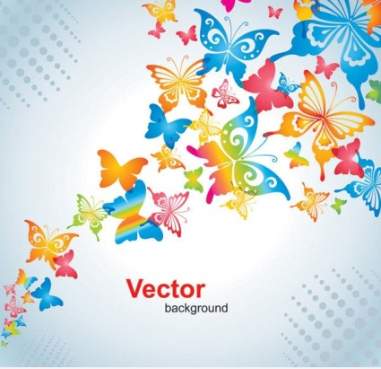 Colorful small flowers background 02 vector