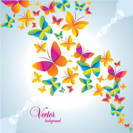 Colorful small flowers background 04 vector