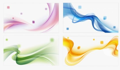 Colors Abstract Waves Background Set vectors
