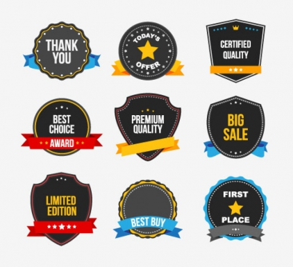 Commercial stickers set vector