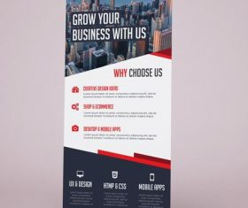 Company Exhibition Roll-Up Banner PSD Template