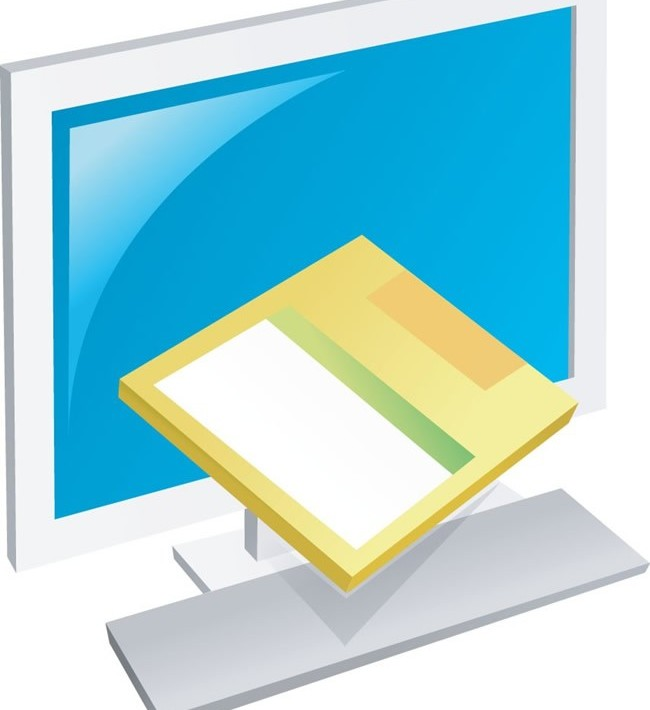 Computer display design 1 vector