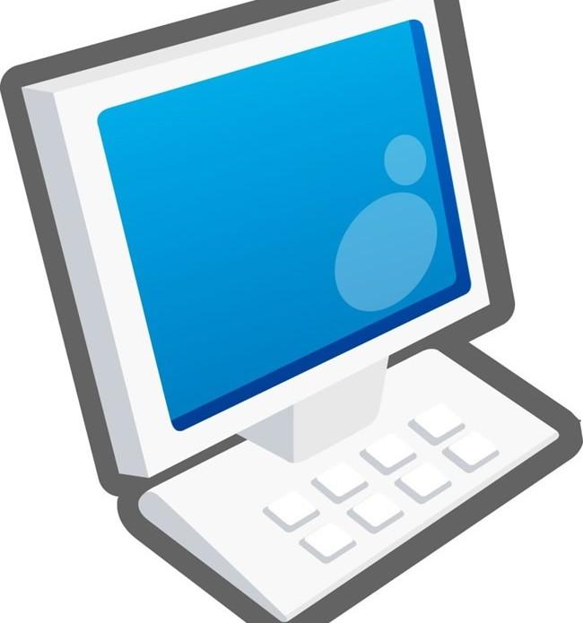 Computer display design 2 vector