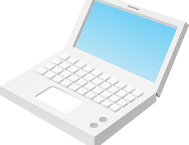 Computer notebook, IT office supplies vector