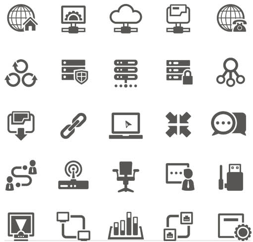 Computers Different Icons vector