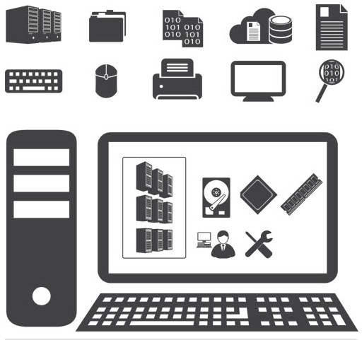 Computers Icons art vector