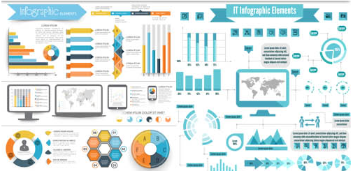 Computers Infographics 2 vector material