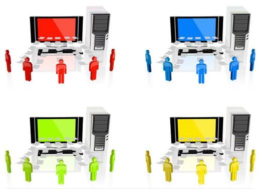 Computers Symbols vectors graphic