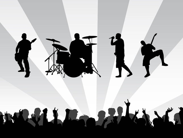 Concert Background vector graphics