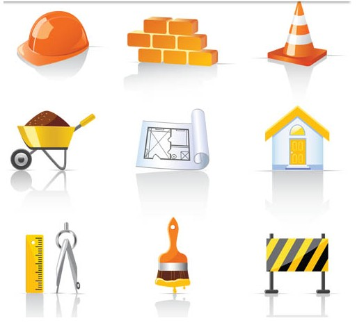 Construction Icons creative vector