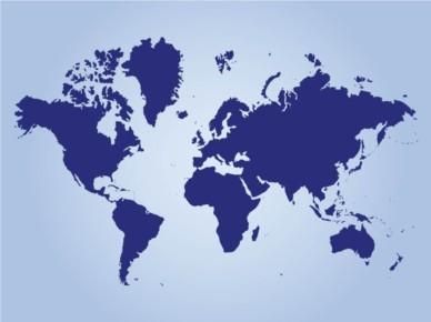 Continents Map vectors