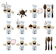 Cook cafe menu vector