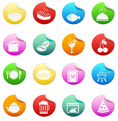 Cooking and food icons Free vector