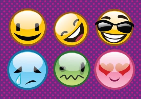 Cool Emoticons vector