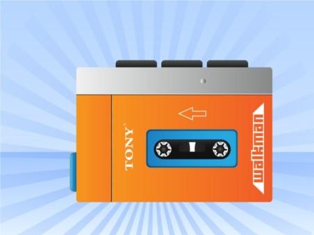 Cool Walkman creative vector