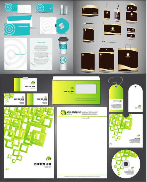 Corporate Stationery Designs 4 vector