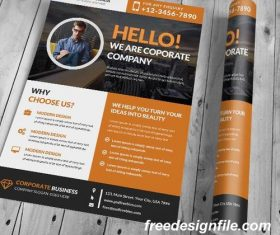 Corporate and Clean Business Flyer with Poster PSD Template