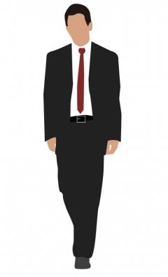 Corporate man walking vector