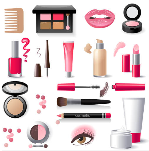 Cosmetics free design vector