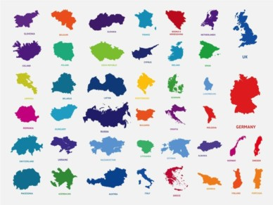 Countries In Europe vector