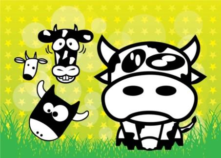 Cows Cartoons vector
