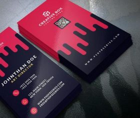 Creative Box Business Card PSD Template Material