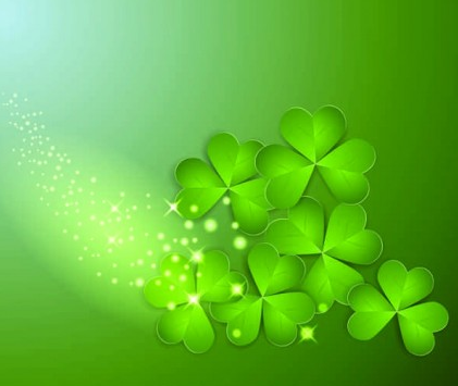 Creative Clover Background vector set
