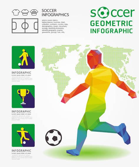 Creative Football Backgrounds 3 vector