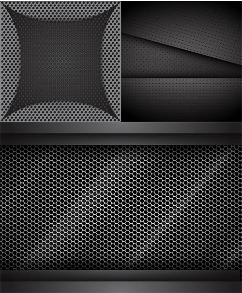 Creative Metal Backgrounds 6 vector graphics