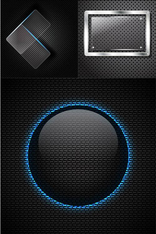 Creative Metal Backgrounds 8 shiny vector