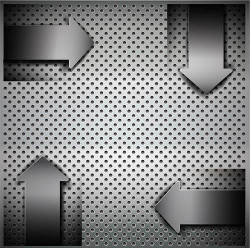 Creative Metal Backgrounds 9 vector
