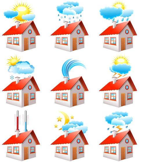 Creative Shiny Weather Icons vectors graphics