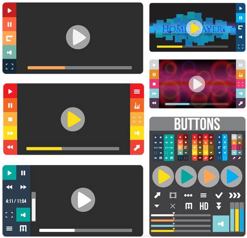 Creative UI Elements shiny vector