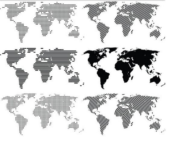 Creative World Maps vector material