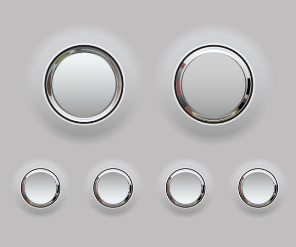Creative button 1 vector