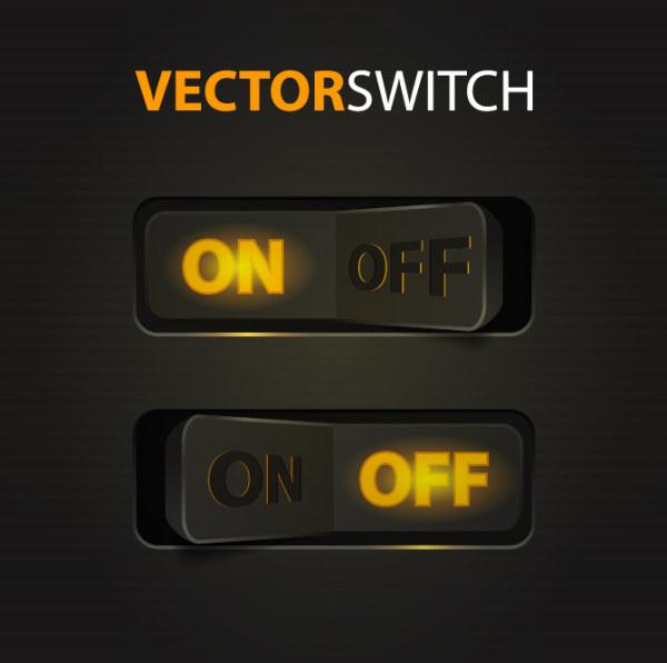 Creative button 2 vector