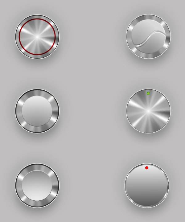 Creative button 5 vectors